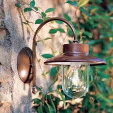 brass copper exterior wall light made in italy lighting