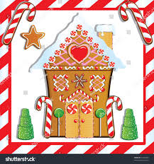 Gumdrop Christmas Tree Decorations by Cute Gingerbread House Gumdrop Trees Candy Stock Vector 64330483