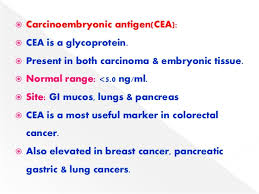 cea marker normal range cancer