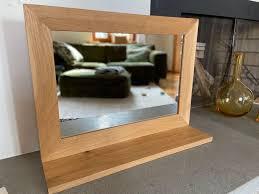 massiver eichenholz spiegel mit ablage kaufen auf ricardo