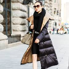 Womens Long Puffer Jacket 2016 Winter Women Down Coat Super Larg Ladies Coats Extra