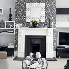 Best 25 Feature Wallpaper Living Room Ideas On Pinterest