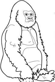 Gorilla Clip Art Black And White