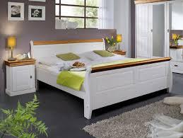 doppelbett massivholzbett bett schlafzimmer 180x200 kiefer weiß honig