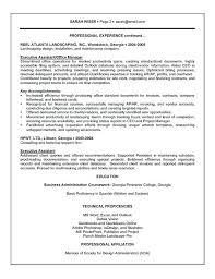 Executive Secretary Sample Resume Assistant Example Senior