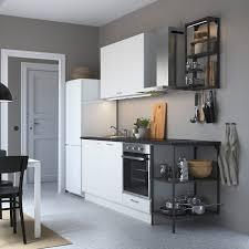 enhet küche anthrazit weiß 223x63 5x222 cm
