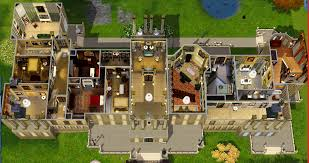 Highclere Castle First Floor Plan by Sims 3 Castle Floor Plans Homes Zone