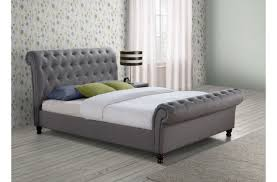 Birlea Castello 6ft Super Kingsize Grey Fabric Bed Frame by Birlea