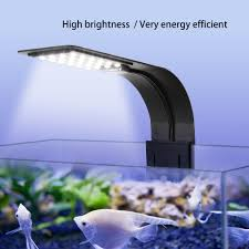slim led aquarium light arm clip on plant grow fish tank