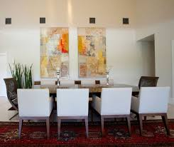 Dining Room Wall Decor With Abstract Art Painting Paint Desi