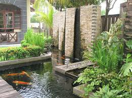Garden Wall Water Features Ideas Interior Design