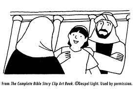 Boy Jesus Visits The Temple Coloring Page