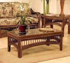 Hospitality Rattan St Lucia Wicker Coffee Table With Glass