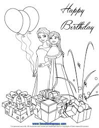 Birthday Coloring Pages Frozen