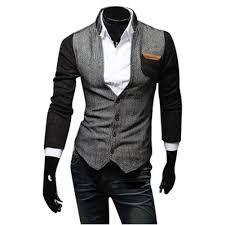 2017 mens blazers coat trench coat men slim fit stylish casual