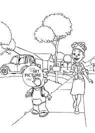 Sid And Mom Coloring Pages For Kids Printable Free