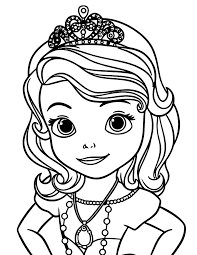 Sofia The First Coloring Pages Free
