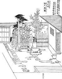 Coloring Book Japanese Garden