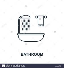 badezimmer symbol einfaches element abbildung badezimmer