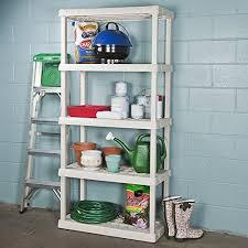Sterilite 4 Drawer Cabinet Platinum by Sterilite 5 Shelf Shelving Unit 75 125 X 36 X 18 Inches