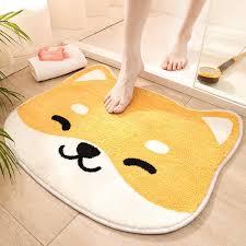 bad tür eingang matte katze bad teppich badezimmer