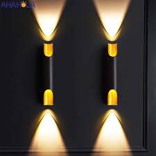 up beleuchtung schwarz aluminium moderne led wand leuchten für haus schlafzimmer wohnzimmer bad spiegel make up treppen led licht