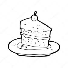 Cake Slice Drawing Vintage
