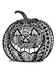 Printable Freddy Krueger Pumpkin Stencils by Halloween Zentangle Pumpkin Halloween Coloring Pages For