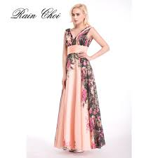 online get cheap long floral print prom dress aliexpress com