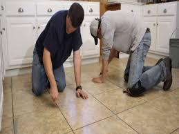 Laying Vinyl Tile Over Linoleum by Ceramic Tile Kitchen Floors Laying The Ceramic Tile Kitchen Floor
