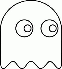 Pac Man Stencil Pumpkin Carving by Pacman Coloring Pages Coloringsuite Com