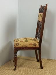 Set Of Six Antique Upholstered Solid Oak Framed Art Nouveau ...