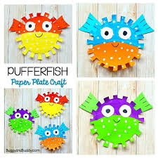 Paper Plate Pufferfish Craft For Kids