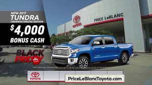 Price LeBlanc Toyota - Black Friday All Month - Tundra - YouTube 2015 Toyota Tacoma Prerunner In Flagstaff Az Pheonix Truck Month Jim Gusweiler Auto Group Washington Court House Oh 1995 Pickup Overview Cargurus 2012 Tundra 2017 Reviews And Rating Motor Trend The Freshed 2014 Arrives Dealerships At The End New Cars And Trucks That Will Return Highest Resale Values Used Hi Lux Invincible Chelmsford Essex From 37965month Us Light Vehicle Sales Increase January Rubber Plastics Lease Specials Serving Concord Grappone Heavyduty