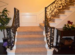 Wrought Iron Staircase Handrails — John Robinson House Decor ... Wrought Iron Stair Railing Idea John Robinson House Decor Exterior Handrail Including Light Blue Wood Siding Ornamental Wrought Iron Railings Designs Beautifying With Interior That Revive The Railings Process And Design Best 25 Stairs Ideas On Pinterest Gates Stair Railing Spindles Oil Rubbed Balusters Restained Post Handrail Photos Freestanding Spindles Installing