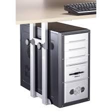 fixation pc sous bureau support de pc pour fixation sous le bureau iph002 s gris argent sur