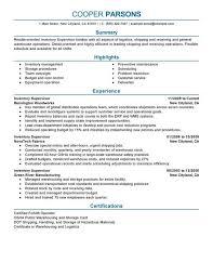 Best Inventory Supervisor Resume Example Livecareer Control Summary Production Professio Controller Medium