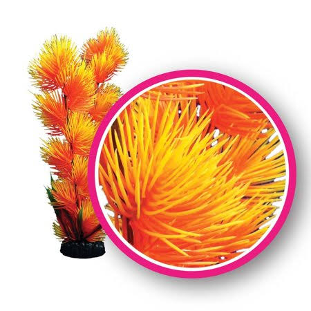 Weco Products Weco Dream Series Orange Pom Pom Plant Ornament Bright Imaginative Liven 6 Inches