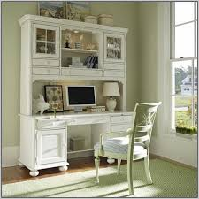 sauder harbor view computer desk with hutch antiqued white aloin
