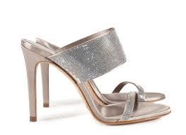 pedro garcia high heel crystal sandal camelia in grey satin