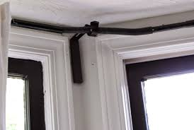 corner curtain rod connector modern home