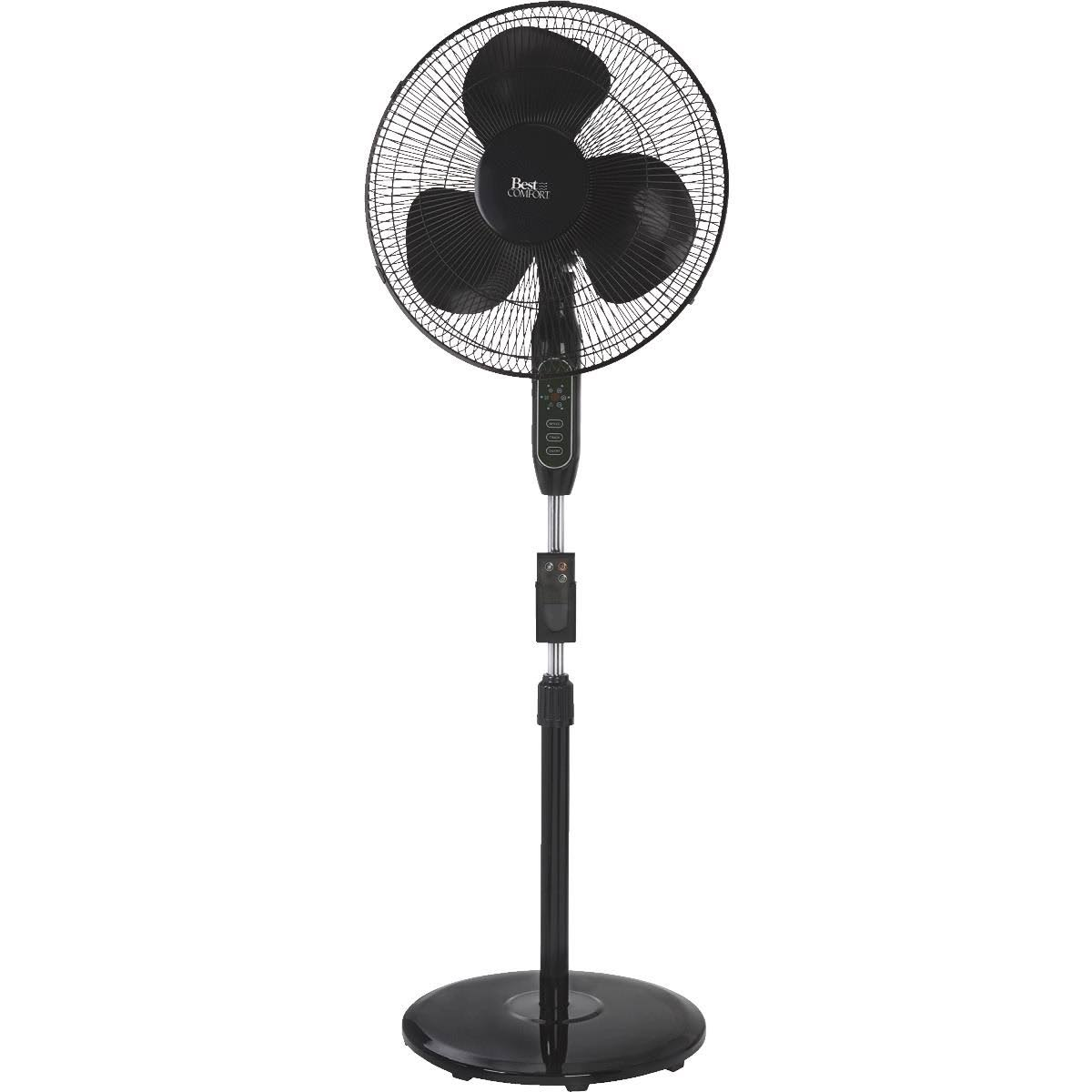 Best Comfort 16 in. Oscillating Pedestal Fan with Remote Control