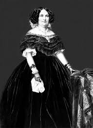 The Heavy Folds Of Velvet Fabric This Victorian Ball Gown Are Supported By A Hoop Skirt At Its Peak In Size Crinoline Reached Diameter Up To