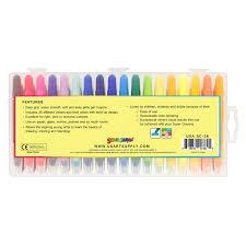 Crayola Bathtub Crayons 18 Vibrant Colors by Amazon Com U S Art Supply Super Crayons Set Of 36 Colors