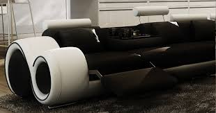 canape relax cuir blanc deco in canape d angle cuir noir et blanc relax