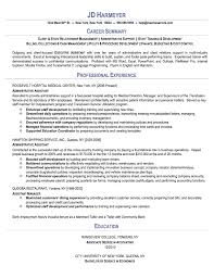 Administrative Assistant Sample Resume Resumes Net EDSXBIHq
