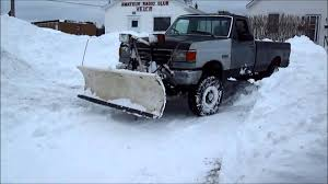 Old Ford Snow Plow In Action - YouTube