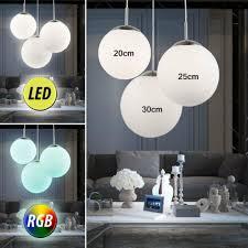 beleuchtung led glas kugel hänge leuchten wohnzimmer rgb
