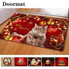 Christmas Red Bathroom Rugs by Christmas 3d Persian Cat Printing Multifunction Dedusting Carpets