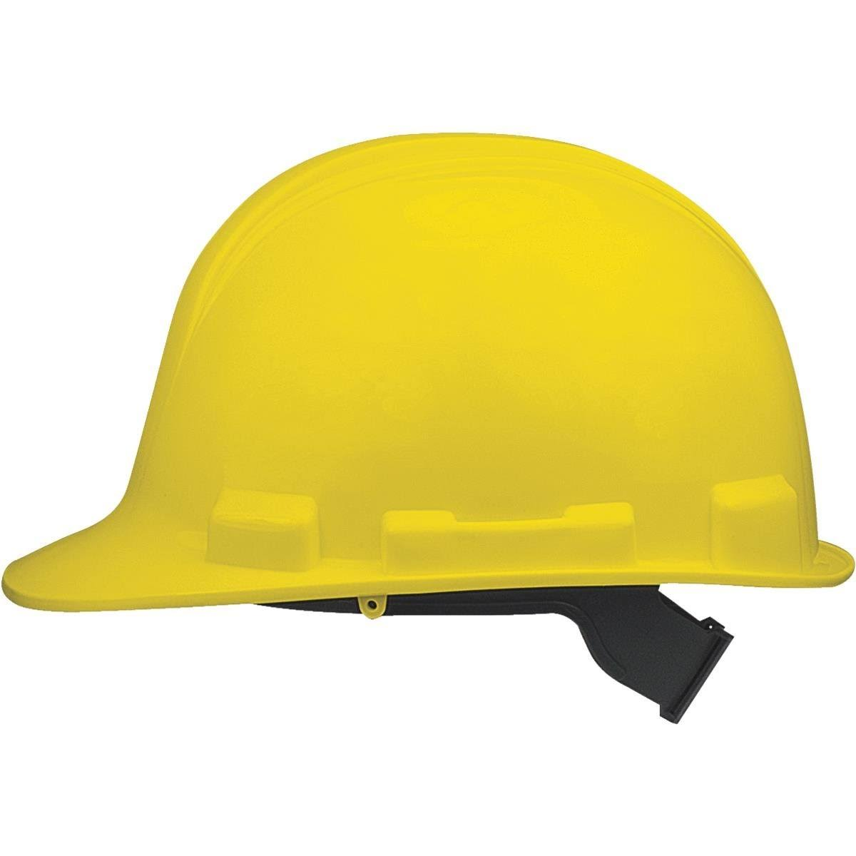 Safety Works Adjustable Suspension Hard Hat - Yellow
